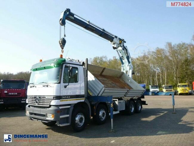 Mercedes-Benz Actros 3243 8x4 2-way tipper + Cormach 65000 E3