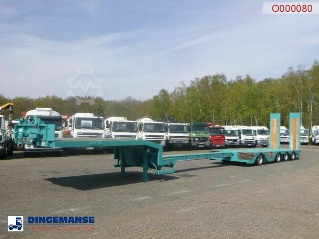 Nooteboom 4-axle semi-lowbed trailer extendable 15.6 m + ram