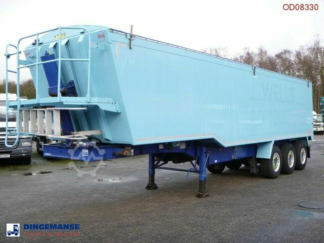 WEIGHTLIFTER Tipper trailer alu 51.5 m3 + tarpaulin