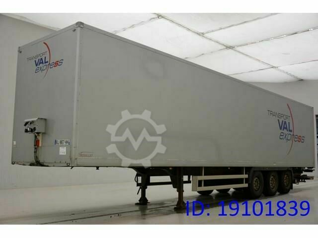 Trouillet Box semi trailer
