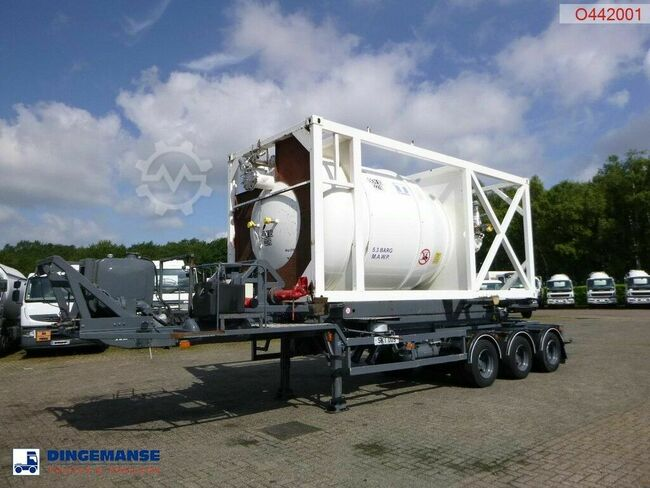 HTS 3-axle container trailer (sliding, tipping) + 20 f