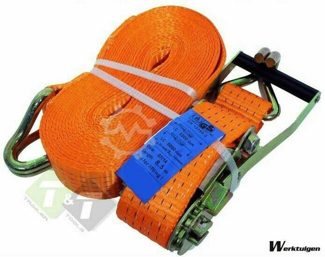 Trailer And Tools Spanband, Sjorband oranje, 5 Ton, 8 meter x 50mm