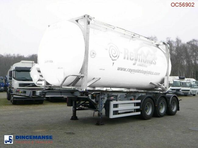 SDC 3-axle container trailer 20-30 ft + pump