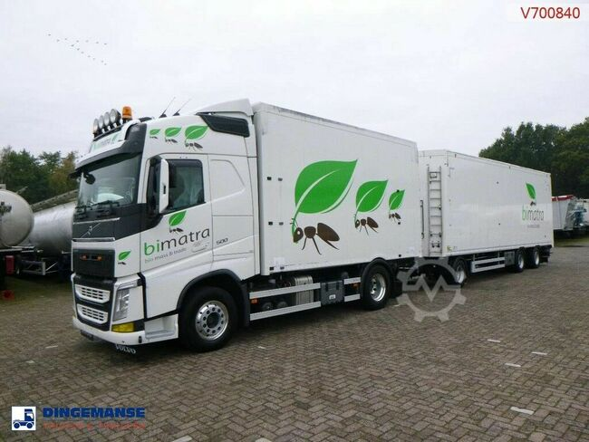 Volvo FH13 500 Euro 6 4x2 tipper + walking floor drawbar