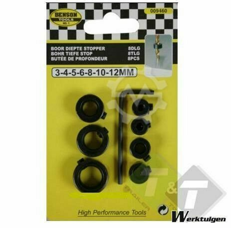 Trailer And Tools Boor diepte stopper, Boorstopper, 3 - 12mm
