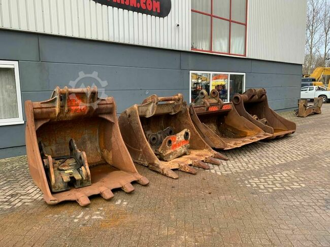 Hitachi Buckets/loffels with couplers ZX470/520