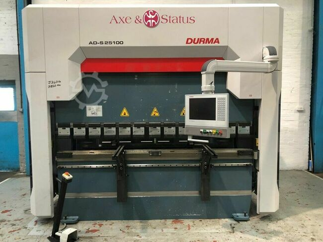 DURMA AD-S 25/100 100 Ton x 2550mm CNC Press Brake