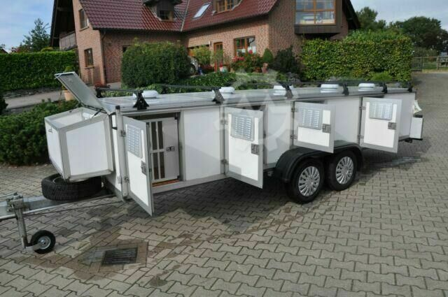 Sonstige/Other WT Metall Hundeanhänger 10 Thermo Boxen