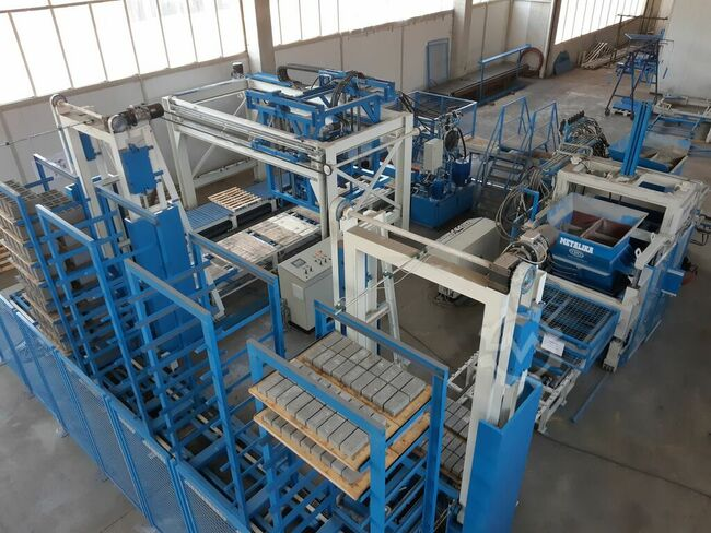 RVP-2000 with ASP-800 cuber automatic Concrete product manufacturing plant