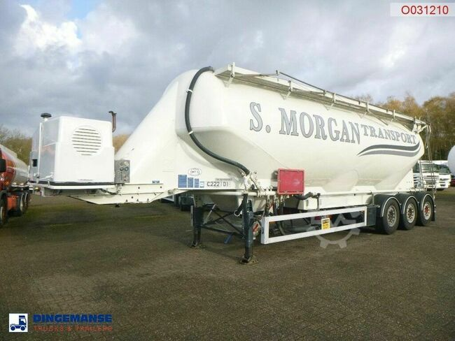 Feldbinder Powder tank alu 49 m3 + engine/compressor
