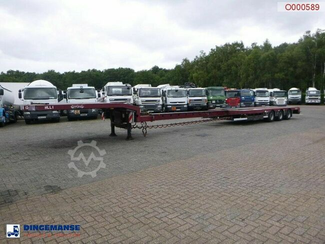 Nooteboom 3-axle semi-lowbed trailer extendable 14.5 m + ram