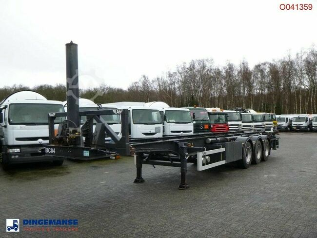 LAG 3-axle container trailer 40 ft (tipping)