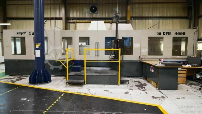 ZAYER 20 KFU x 4000 4000mm x 1000mm 5 Axis CNC Bed Miller. Heidenhain TNC 430 CA control. Programmable and Fully Indexing Milling Head & Tool Change.
