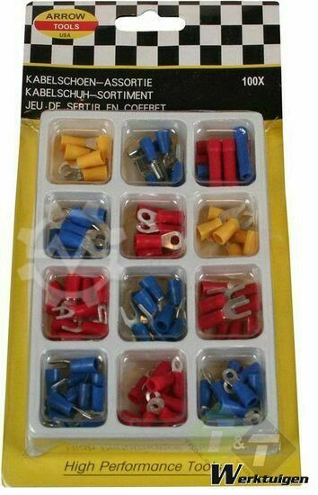 Trailer And Tools Kabelschoen assortiment, 100 dlg, Kabelschoenen