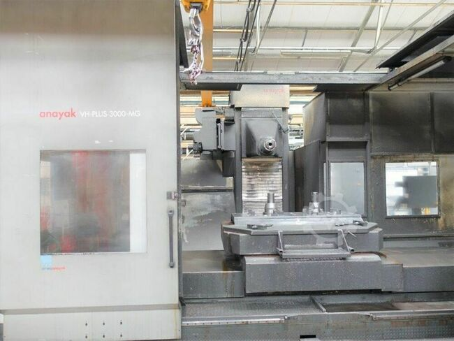 ANAYAK VHPlus-3000-MG Horizontal CNC Boring & Milling Machine. Heidenhain iTNC 530 Control,  X = 3000 mm, Y Axis Vertical = 1300 mm, Z Axis Cross = 2000 mm, with Through spindle coolant. 2000mm x 1600mm Rotary Table 13,000 Kgs load. Manufactured 2008