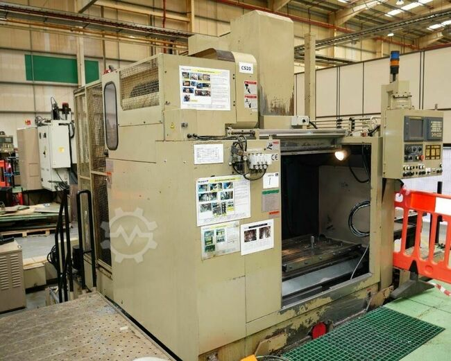ENSHU EV530 3 Axis CNC Vertical Machining Centre with Fanuc 18I-M Control. Approx table dimensions 1100mm x 558mm, 5 Tee slots. X = 998mm, Y = 530mm, Z = 508mm Spindle ISO 50. Spindle speed 10,000 rpm. 30 ATC. Serial No. 125.