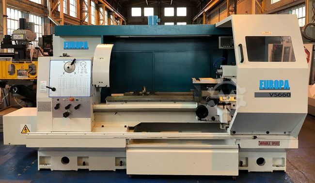 EUROPA Machine Tools VS660 Gap Bed Centre Lathe