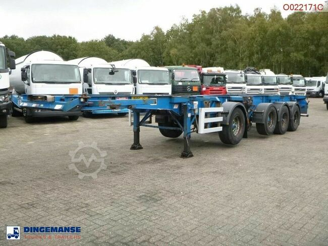 Dennison 4-axle container combi trailer (3 + 1 axle) 20-30-