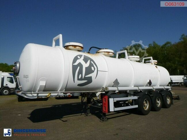 MAISONNEUVE Chemical ACID tank inox 22.5 m3 / 2 comp