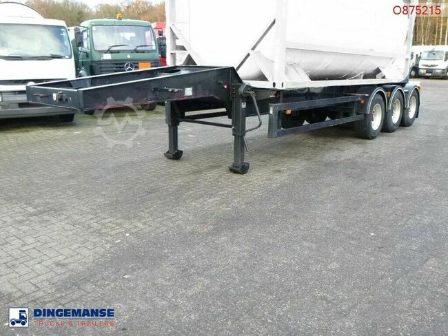 Crane Fruehauf 3-axle tank container trailer 20 ft