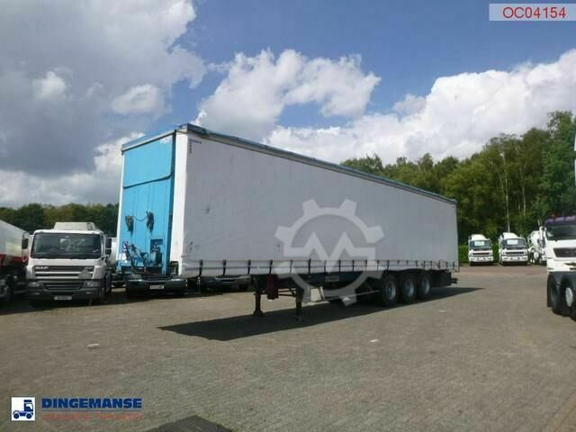 Kaiser Curtain side trailer 92 m3 / lift axle