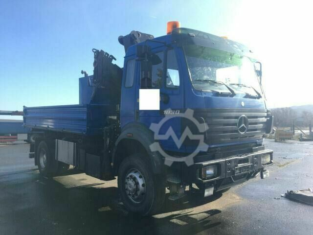 Mercedes-Benz SK 1838 4x4, HIAB 125, GERMAN, engine problem!!!