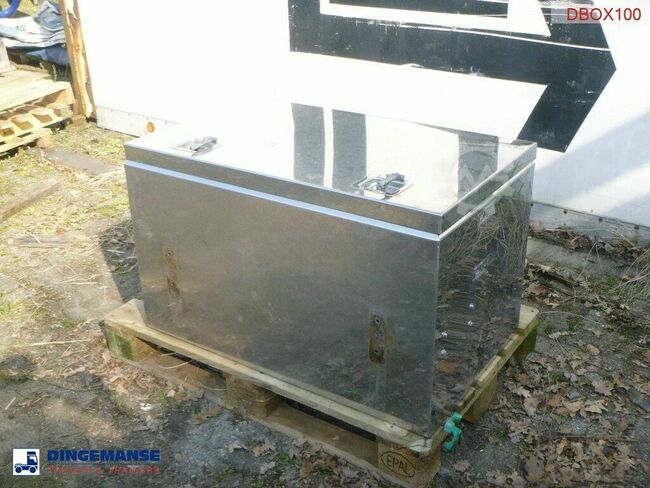 Onbekend Stainless steel tool box 100x60x60 cm