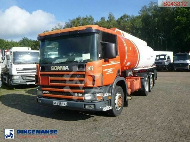 Scania P94 260 6x2 fuel tank 20.8 m3 / 3 comp