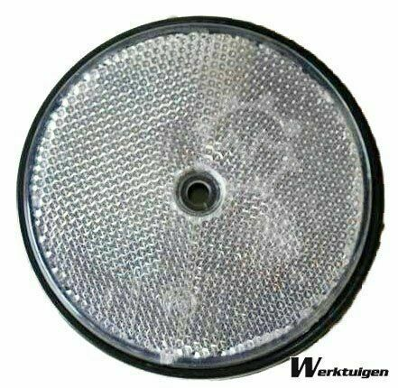 Trailer And Tools Reflector Wit rond 85 mm