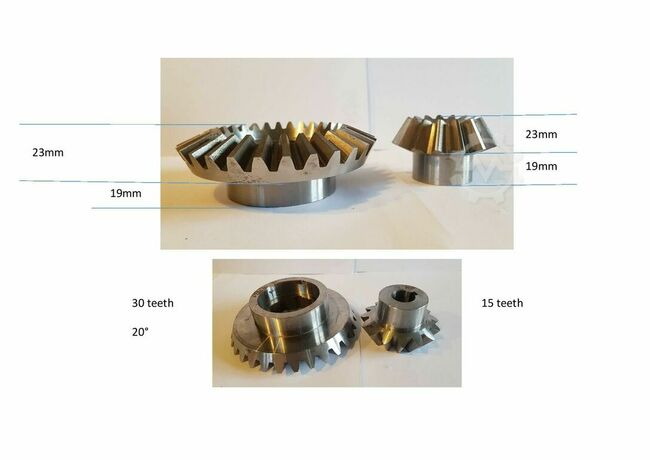 various Spur gears, bevel gears and worms gears