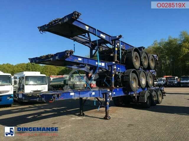 Montracon Stack 3 x container trailer 20 30 40 45 ft