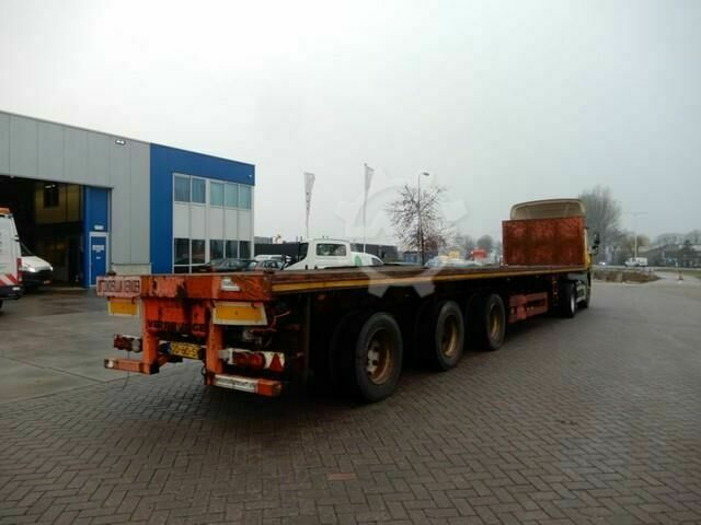 Nooteboom Flat trailer / Extendable / Double montage / 3x st