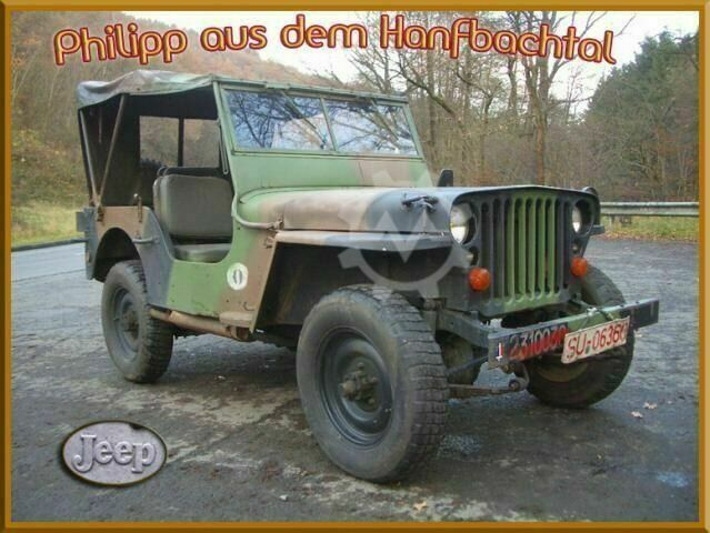 Sonstige/Other JEEP Willys MB Overland Hotchkiss M201 Armeejeep