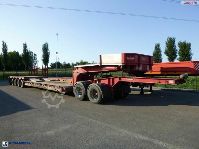 Nooteboom 5-axle lowbed trailer + dolly / 8.5 m / 110 t