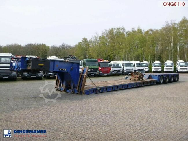 KING 4-axle lowbed trailer 104 t / 9.6 m / 4 steering a