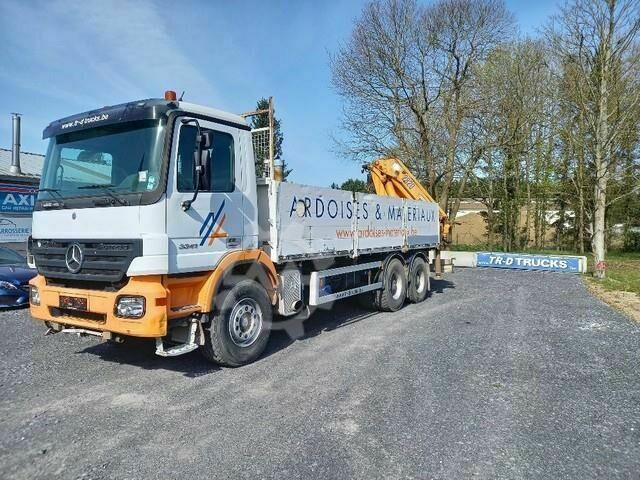 Mercedes-Benz Actros 3341 FULL STEEL crane HMF2820 with rotat