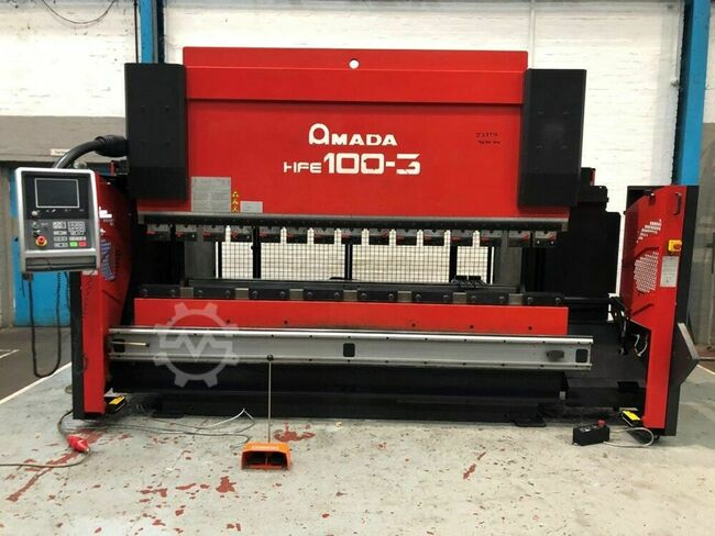 AMADA HFE 100-3 100 ton x 3000mm Downstroke Hydraulic 8 Axis CNC Press Brake
