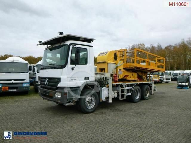 Mercedes-Benz Actros 2636K 6x4 AMV manlift working platform roll