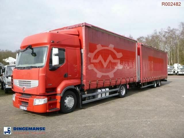 Renault Premium 460.19 4x2 volume curtain sider trailer