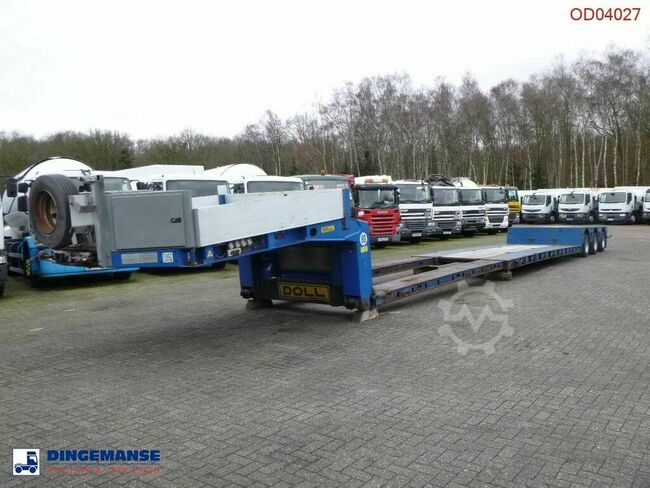 Doll 3-axle lowbed trailer T3H-S3F/25 / 65 t / 3 steeri