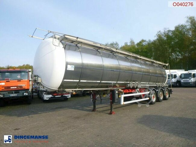 LAG Food / chemical tank inox 34.6 m3 / 2 comp + pump