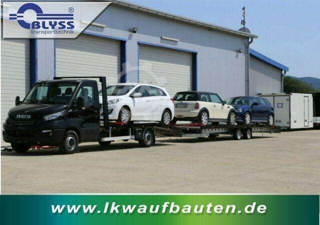 Iveco Daily Autotransport Zug mit Anhänger 3 PKW