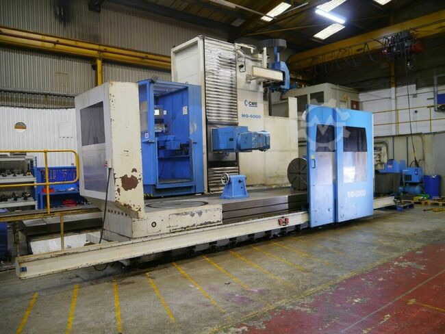 CME MQ6000 6500mm x 1200mm 7 axis CNC travelling Column Bed Miller. With Heidenhain I530M Control, and 100 tool ATC.  Manufactured 2004