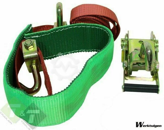 Trailer And Tools Spanband, Sjorband groen, 2.4 meter x 50mm
