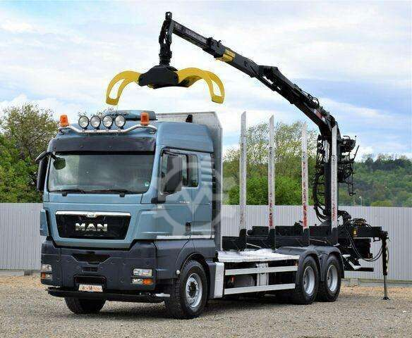 MAN TGX 26.480 Holztransporter + LOGLIFT 115Z80A/6x4